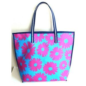 Blue and Pink Floral Ester Lauder Summer Tote Bag